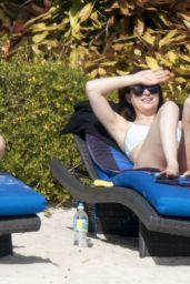 Dakota Johnson in a Pale Blue Bikini - Vacation in Florida 4/3/2017