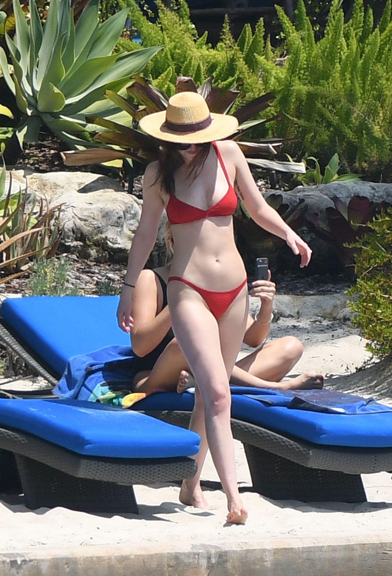 Dakota Johnson In Red Bikini At A Beach In Miami 3 31 2017