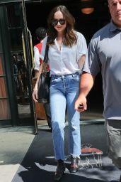 Dakota Johnson Street Style - Leaving Her Hotel in New York 04/28/2017
