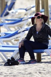 Daniela Katzenberger - Enjoys a Day at the Beach in Mallorca, Spain, March 2017