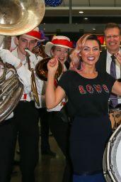 Dannii Minogue - Media Call for Virgin Australia at Melbourne Airport 4/4/2017