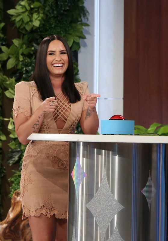 Demi Lovato Appeared on Ellen DeGeneres Show in Burbank 4/5/2017