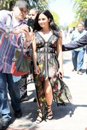 """Demi Lovato Arriving at """"Smurfs: The Lost Village"""" Premiere in LA"""