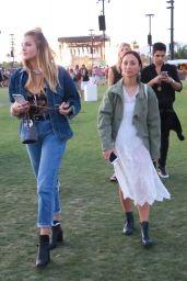 Devon Windsor & Rachel Hilbert at Coachella in Indio 4/14/2017