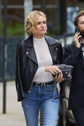 Diane Kruger in a Prada Clutch in NYC 4/23/2017