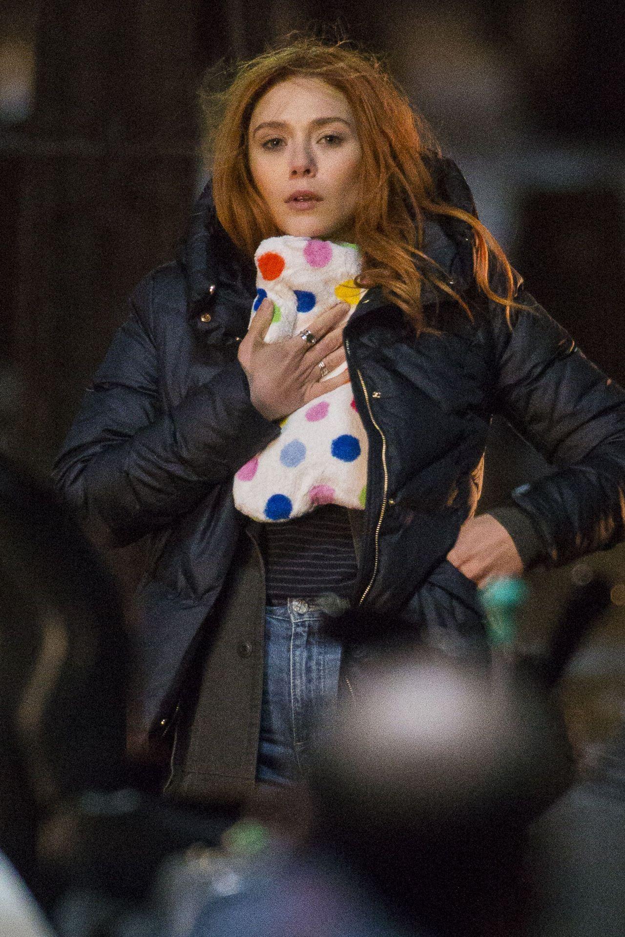 Elizabeth Olsen Marvel Avengers Infinity War Set In