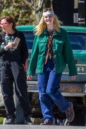 """Elle Fanning Filming """"I Think We"""