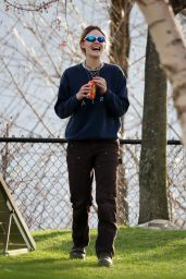 Elle Fanning - Filming Scenes for a New Movie in Upstate NY 4/13/2017