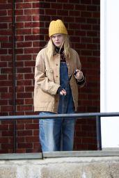 """Elle Fanning on Set of """"I Think We"""
