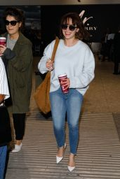 Emilia Clarke in Tight Jeans - Arriving at Heathrow Airport 4/20/2017