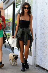 Emily Ratajkowski Cute Outfit - Los Angeles 4/5/2017