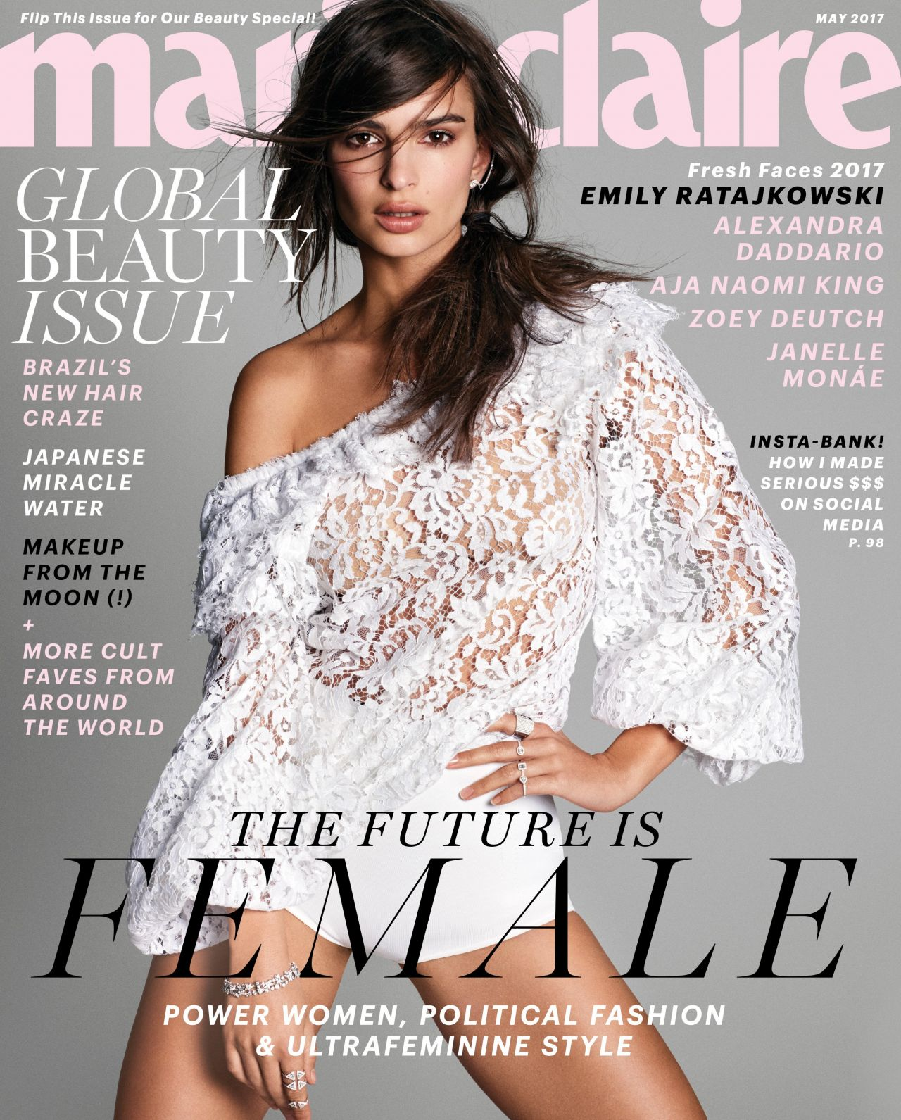 emily ratajkowski marie claire magazine may 2017 cover and photo. Black Bedroom Furniture Sets. Home Design Ideas