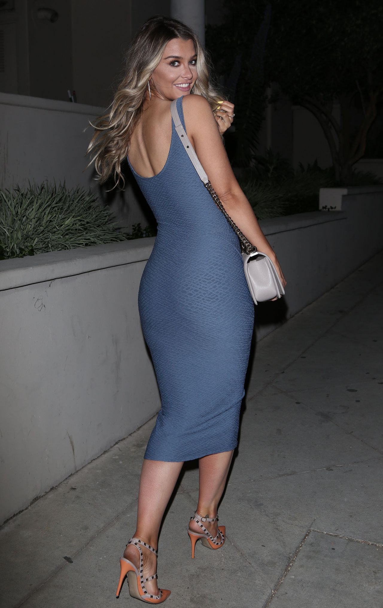 Sears in a Skin Tight Boxum Dress and Heals in West Hollywood 4/5/2017