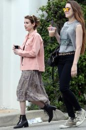 Emma Roberts Casual Style - Out in West Hollywood 4/8/2017
