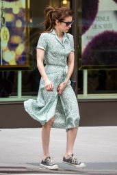 Emma Roberts Street Style - Out in New York City 04/29/2017