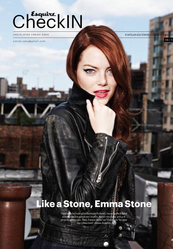 Emma Stone - Esquire Magazine Turkey April 2017