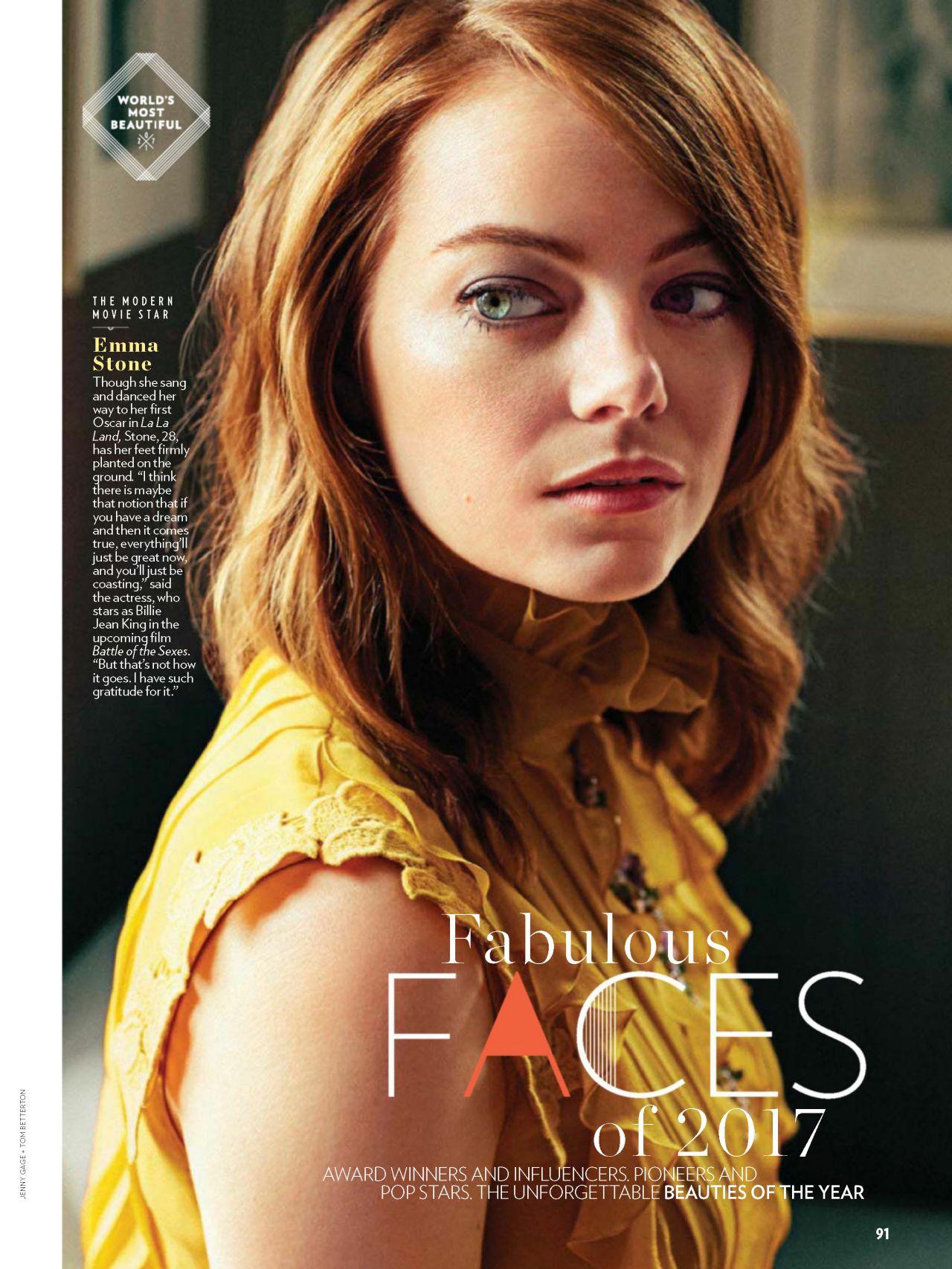 Emma Stone - People Magazine May 1st 2017