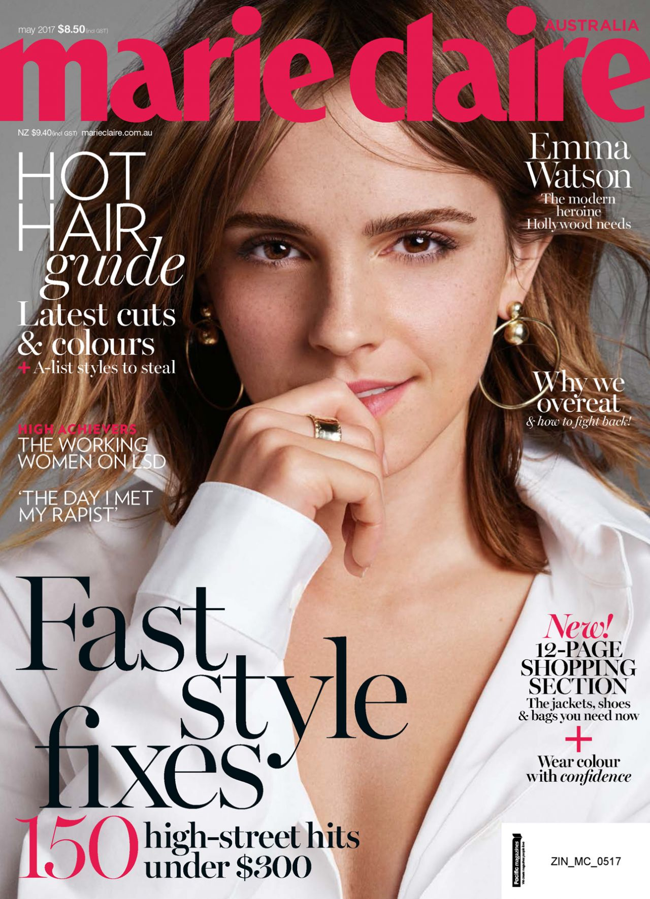 emma watson marie claire magazine australia may 2017 issue. Black Bedroom Furniture Sets. Home Design Ideas