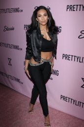 Erica Mena at PrettyLittleThing x Stassie Launch Party in LA 4/11/2017
