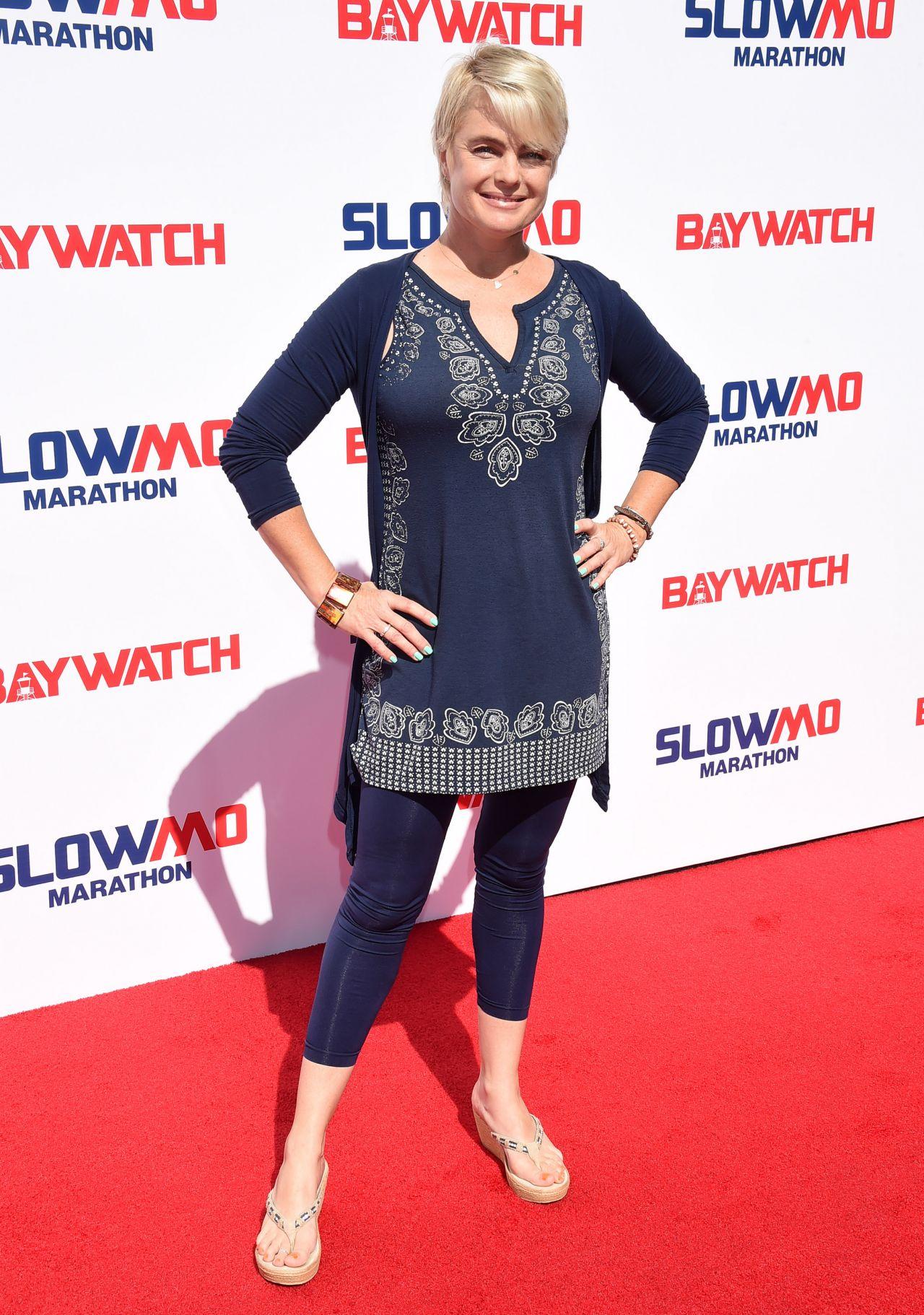 Erika Eleniak - Baywatch Casts Hosts the Slomo Marathon in ...