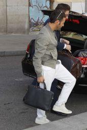 Eva Longoria and Jose Antonio Baston - Arrive at Their Hotel in Madrid 4/3/2017