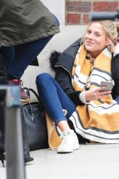 Frankie Gaff – Filming Made in Chelsea at the Bluebird Cafe in Chelsea 4/4/2017