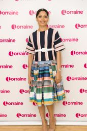Freida Pinto Appeared on Lorraine TV Show in London 4/10/2017