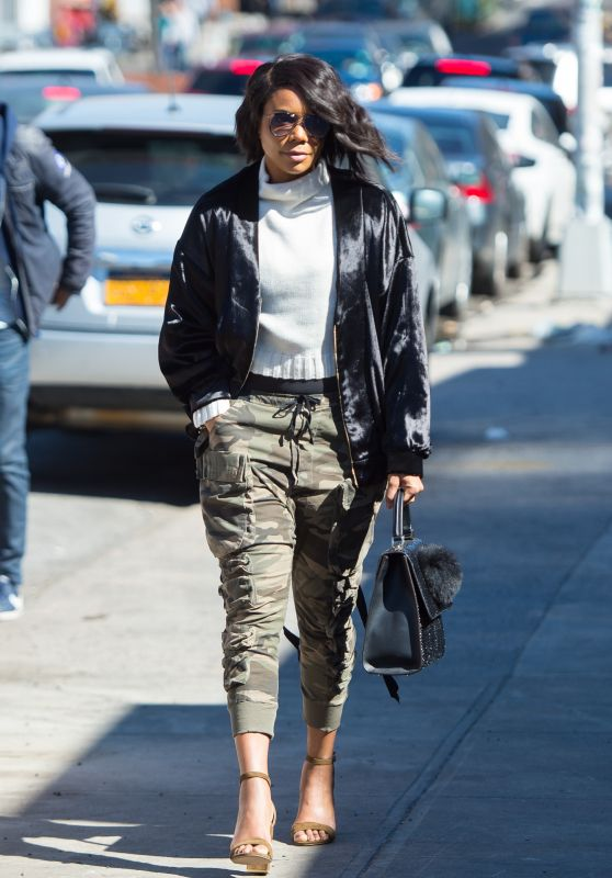 Gabrielle Union urban Outfit - NYC 4/8/2017