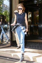 Gigi Hadid Casual Style - Leaves Her Parisian 4/6/2017