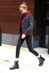 Gigi Hadid Casual Style - Out in NYC 4/17/2017