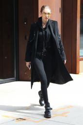Gigi Hadid in All Black Ensemble - Out in New York 4/3/2017
