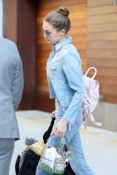 Gigi Hadid in Jeans - Leaving Her Apartment in NYC 4/16/2017