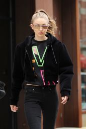 Gigi Hadid Urban Street Style - Leaves Her Apartment in NYC 4/24/2017