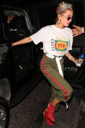 Hailey Baldwin - Arriving to John Mayer Private Party in LA 4/21/2017