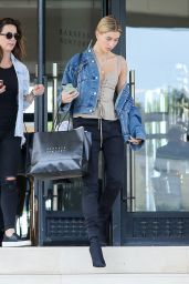 Hailey Baldwin - Exits Barneys New York in Beverly Hills 4/6/2017
