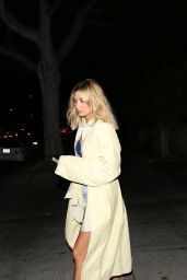 Hailey Baldwin in Bizarre Outfit - Goes to Sushi in LA 4/18/2017