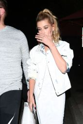 Hailey Baldwin Night Out Style - Leaves Craig