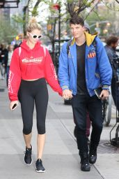 Hailey Clauson in Leggings - Out in NYC 04/26/2017