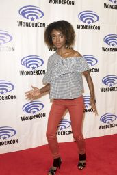 """Hayley Law at """"Riverdale"""" Press Room at WonderCon in Anaheim 3/31/2017"""