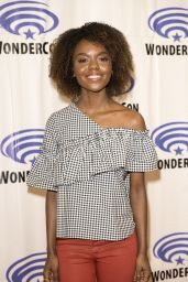 "Hayley Law at ""Riverdale"" Press Room at WonderCon in Anaheim 3/31/2017"