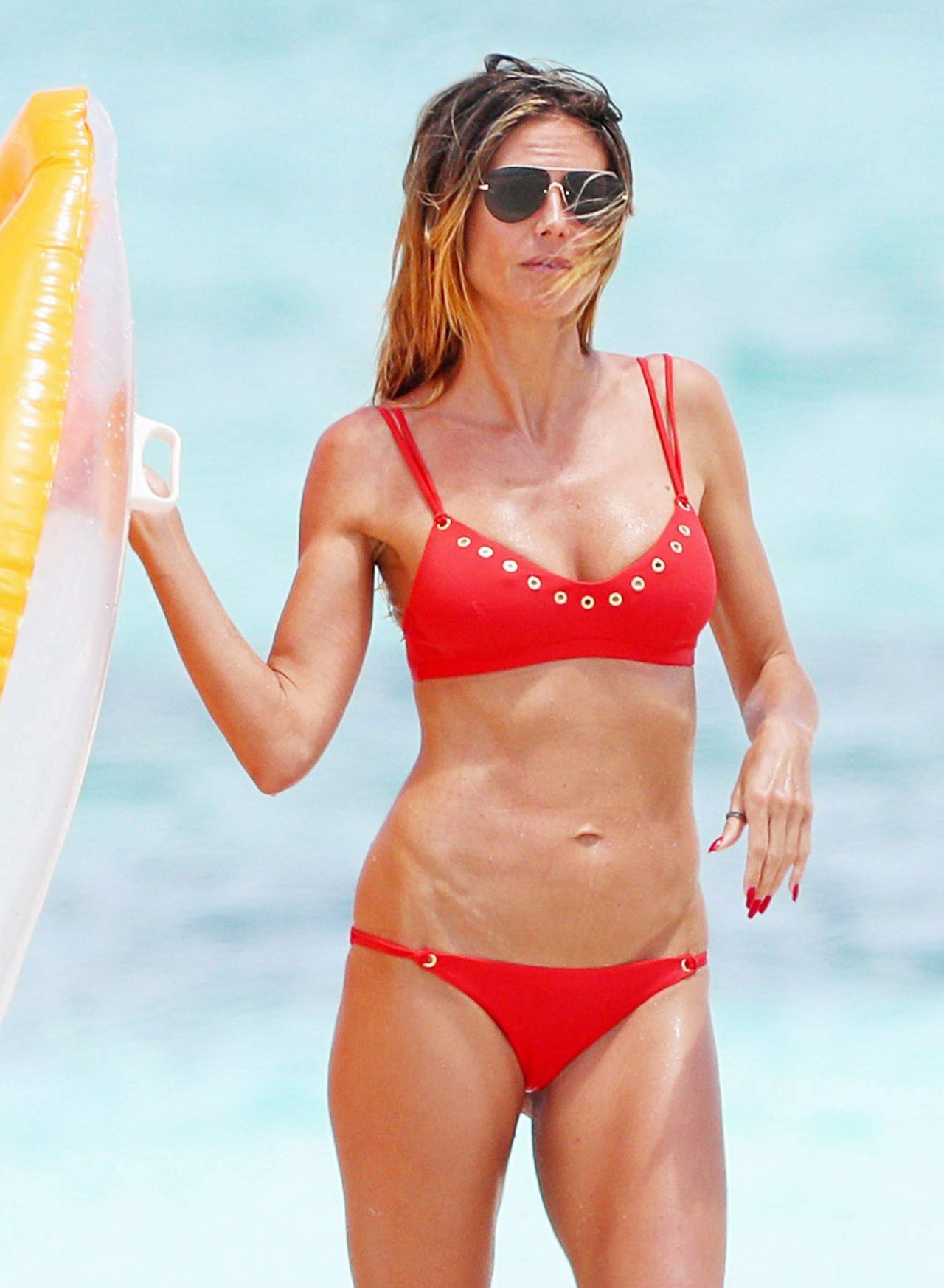 Heidi Klum In Bikini At The Beach On Turks Amp Caicos