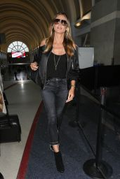 Heidi Klum Travel Outfit - LAX in Los Angeles 04/24/2017