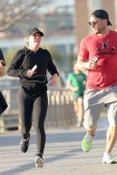 Hilary Duff - Exercising on the Hudson River in New York City 4/17/2017
