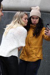 Hilary Duff Talking a Selfie With Her Fan in NYC 4/4/2017