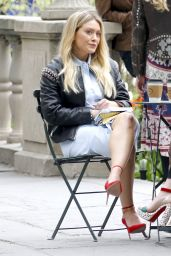 "Hilary Duff - ""Younger"" Set in Bryant Park, New York City 04/24/2017"