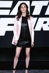 """Hilary Rhoda – """"Fate of the Furious"""" Pemiere in New York 4/8/2017"""