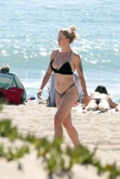 Ireland Baldwin Wearing a Black Bikini in Malibu Beach 4/15/2017