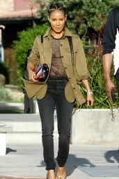 Jada Pinkett Smith in Casual Attire - Out in Los Angeles 4/23/2017