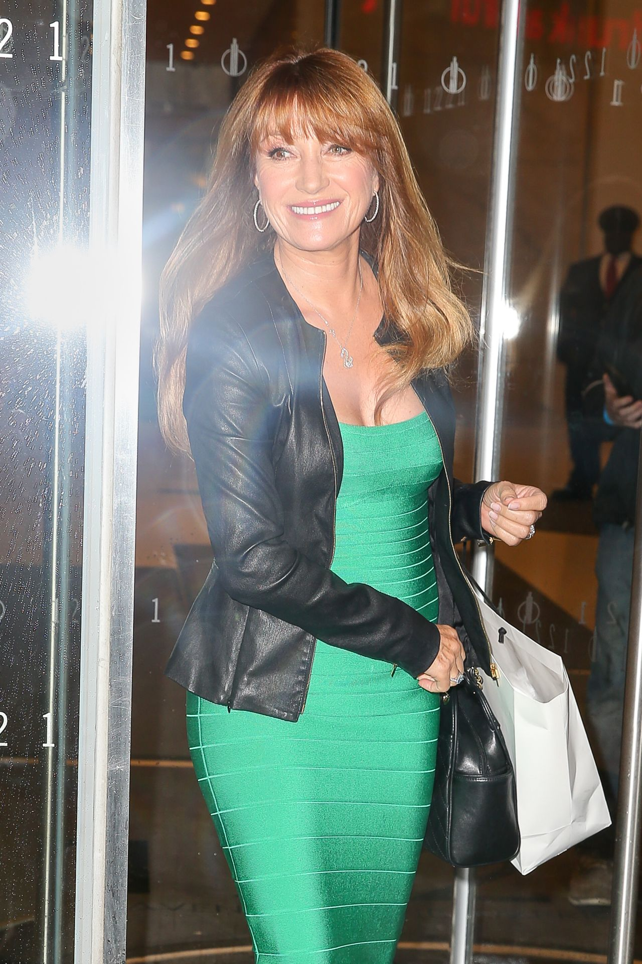Jane Seymour - Leaving SiriusXM Radio Studios in NY 4/6/2017