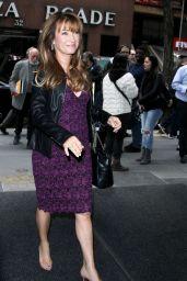 Jane Seymour Wears Leather Jacket at NBC